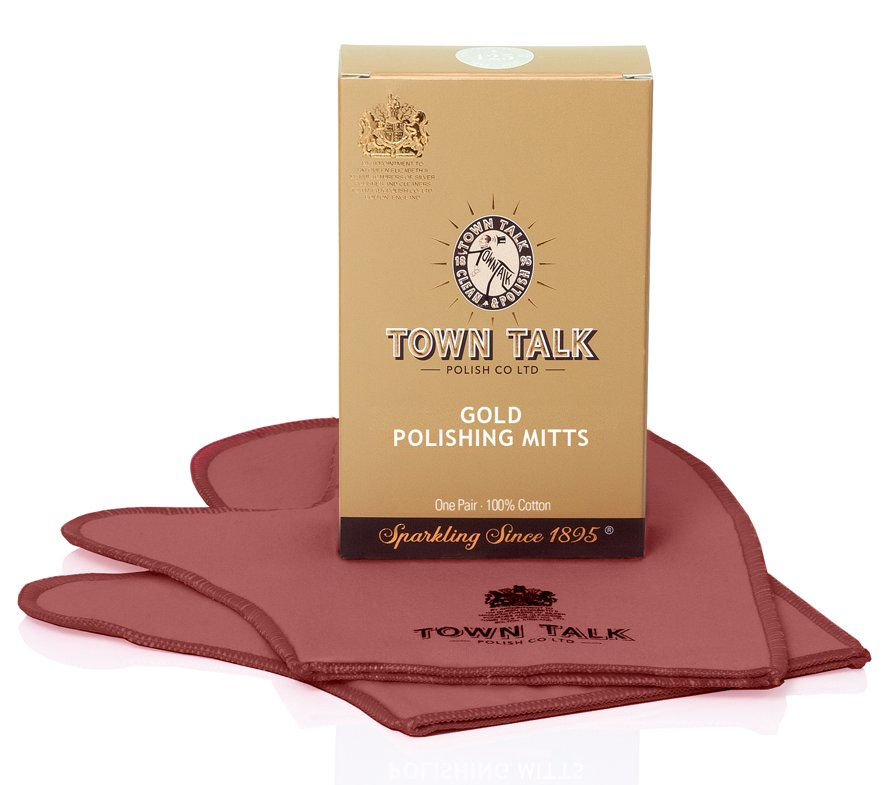 Mr Town Talk gold cleaning gloves